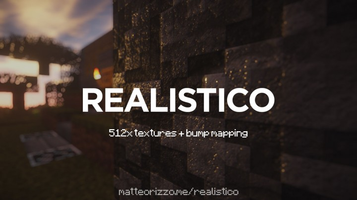Realistico 512x + Bump Mapping Resource Pack 1.8.8/1.8