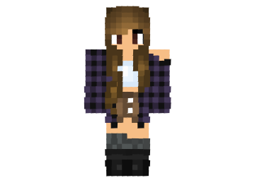 Moon Flannel Girl Skin