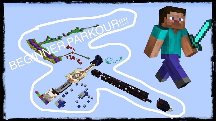 Parkour-Beginners-Map-for-Minecraft-Logo